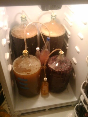 Four batches in the brewerator